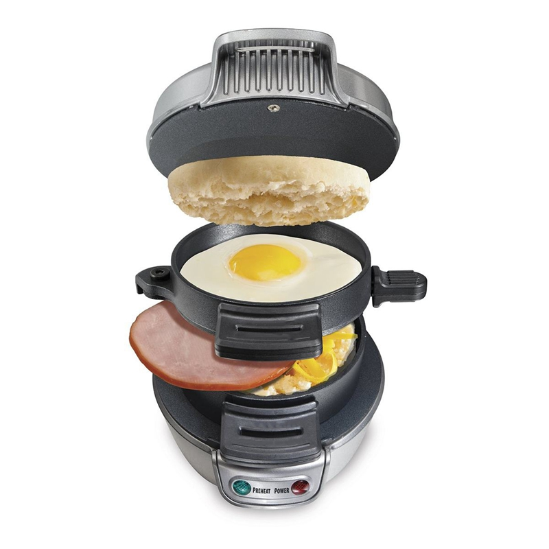 Electric Egg Sandwich Maker Mini Grill Pancake Panini Baking Plates Toaster Multifunction Non-Stick Hamburger Breakfast Machine