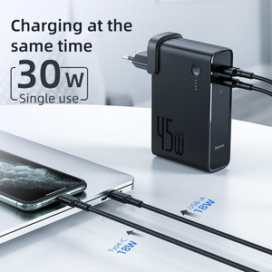 Image 3 - Baseus GaN Power Bank Charger 10000mAh 45W USB C PD Fast Charging 2 in 1 Charger & Battery as One ForiP 11 Pro Laptop ForXiaomi