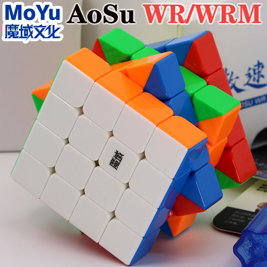 Magic Cube Puzzle MoYu AoSu WR WRM 4x4x4 4x4  Magnetic Magnet Professional Speed  Cube Educational Toys Game