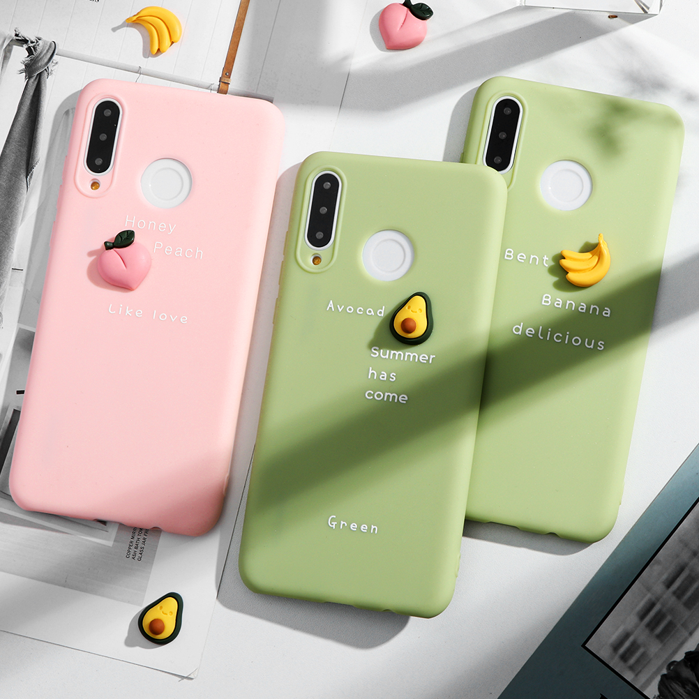 Candy Soft Fashion Fruits Case For Huawei Mate <font><b>30</b></font> 20 10 <font><b>Lite</b></font> Pro <font><b>P</b></font> Smart Y7 Y9 Prime Y6 Pro 2018 P30 P20 P10 <font><b>Lite</b></font> 2017 Pro 2019 image