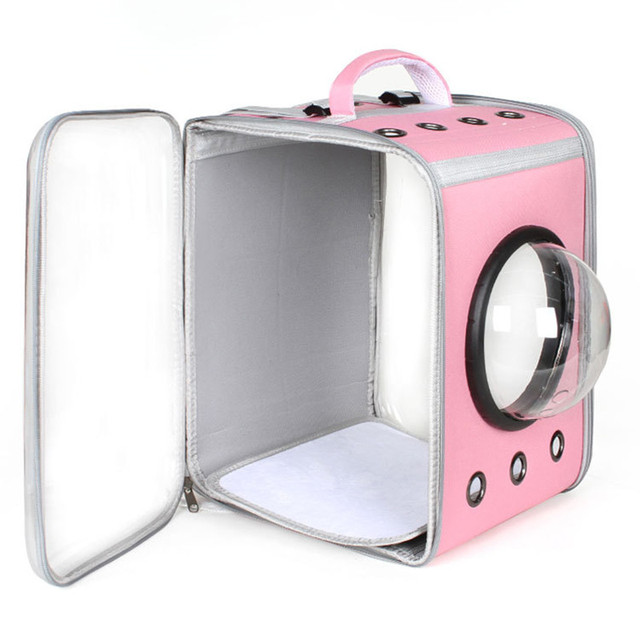 Cat Carrier Backpack Breathable Pet Travel Kennel 3
