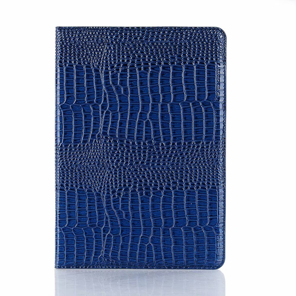 Navy Blue White Luxury Folio Coque for iPad 7th 10 2 Case Crocodile Map PU Card Slot Stand A2198