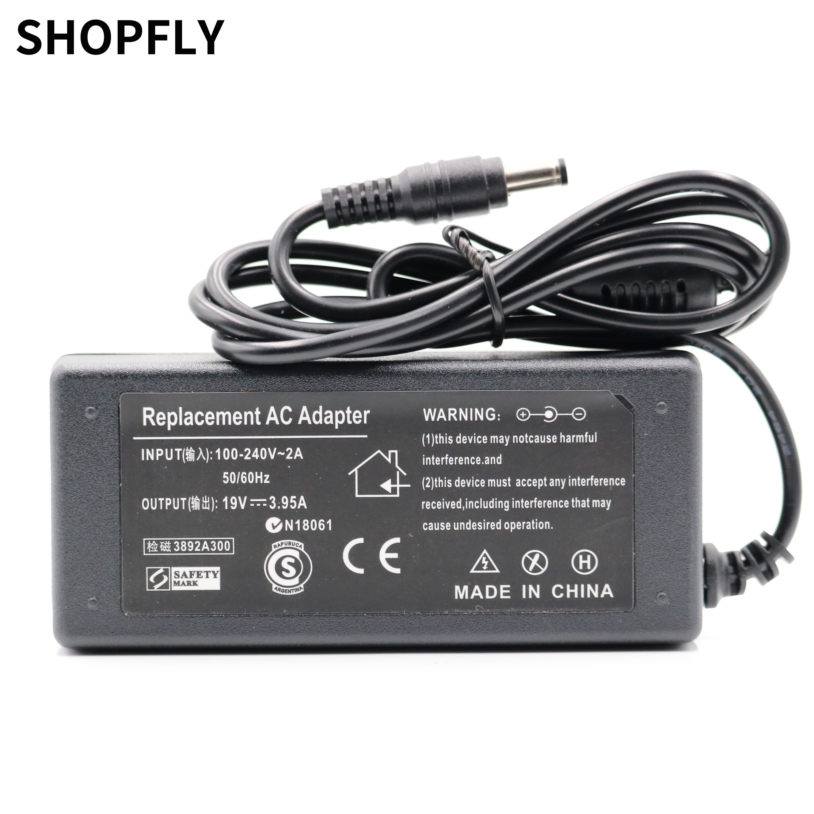 19V 3.95A 75w AC Adapter Battery Charger With Power Cord For TOSHIBA Satellite L650D L650 L655 L655D L670 C650D Laptop