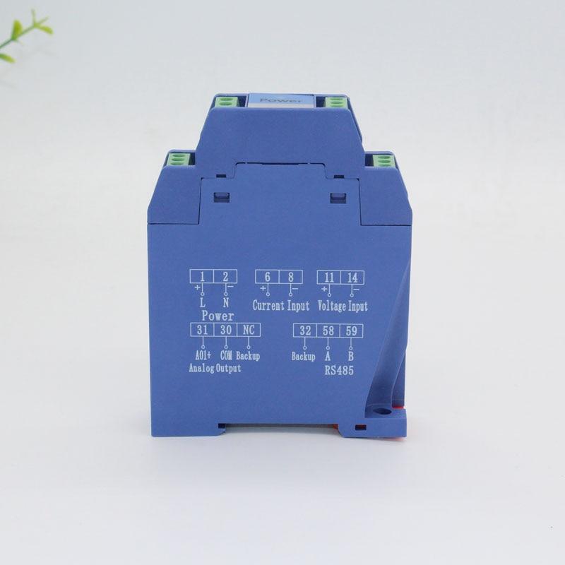 DC0-48V 50V 100V 150V 200V 300V 400V 500V 600V DC Voltage Transmitter Single Phase V Transducer 4-20mA 0-10V 0-5V 0-20mA RS485