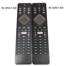 Kullanılan orijinal Philips TV uzaktan kumanda RC GE017 420 RC APG17 420 klavye ile Fernbedienung