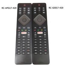 Usado original para philips tv controle remoto RC GE017 420 RC APG17 420 com teclado fernbedienung