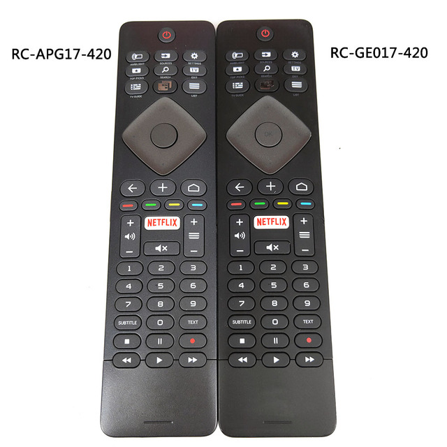 Verwendet Original für Philips TV Fernbedienung RC GE017 420 RC APG17 420 mit Tastatur Fernbedienung