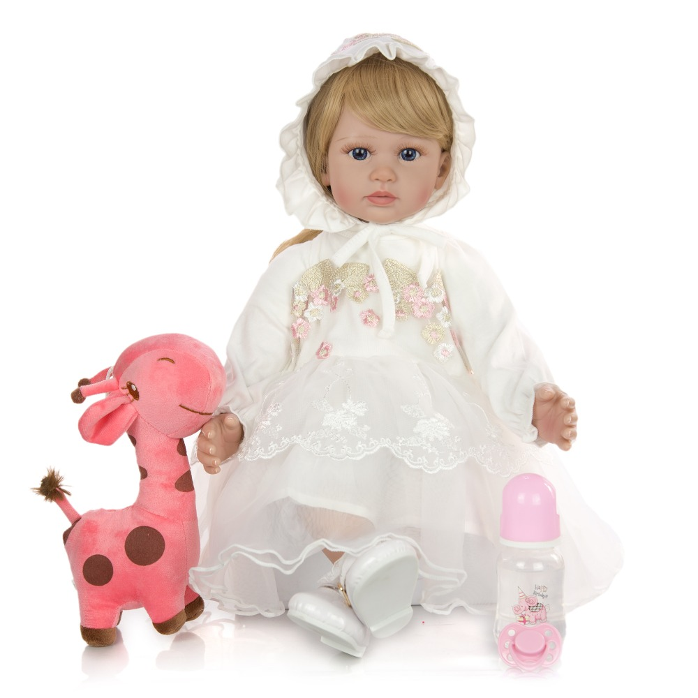 60cm Silicone Reborn bébé poupée jouets 24 pouces vinyle princesse rebornbambin bebe poupées lol cadeau d'anniversaire présent enfant jouets - 3