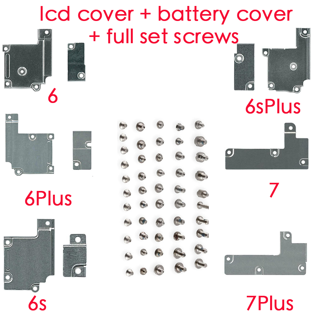 for <font><b>iPhone</b></font> 6 <font><b>6s</b></font> <font><b>6s</b></font> Plus 7 7 Plus LCD Screen Flex <font><b>Connector</b></font> Metal Bracket + Battery Metal Cover Bracket + full set screws image
