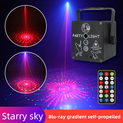 Starry Sky disco lights dj Party Light RGB Rotating Laser Projector LED Mixed Flash Remote For Birthday Family KTV Decoration