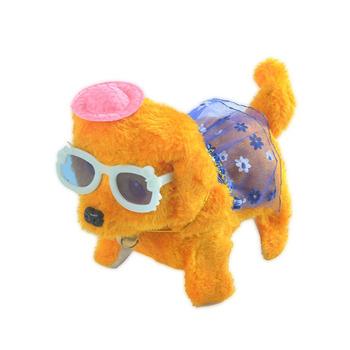 1 sztuk Cute Cartoon Luminous wokal przenośne elektroniczne pluszowe zabawki dla psów kreatywny moda nosić ubrania wypchane zwierzęta fajne zabawki tanie i dobre opinie 8 ~ 13 Lat Urodzenia ~ 24 Miesięcy 2-4 lat 5-7 lat 11 cm-30 cm Pp bawełna Zwierzęta i Natura Transport Muzyka