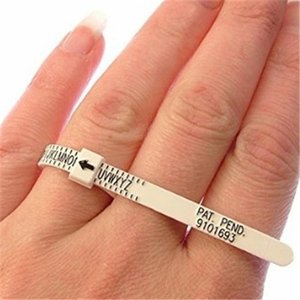 UK & US кольцевой фильтр для измерения пальца Размер кольца инструмент для свадебных колец Размер Великобритании Размер США измерительное ко...