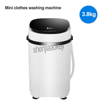 1pc 3.8kg Electric mini clothes washing machine High capacity Single Tub Semi-automatic Antibacterial garment washer 170W 220v