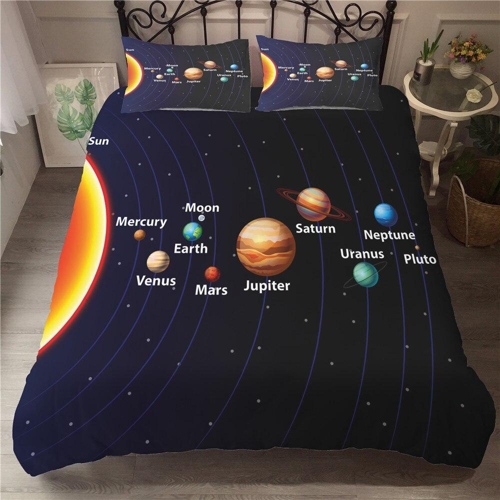 Bedding Set And Bed Sets Milky Way Layout 3d Bed Linen Sets Space Ship Bedroom Bedding Duvet Cover Set