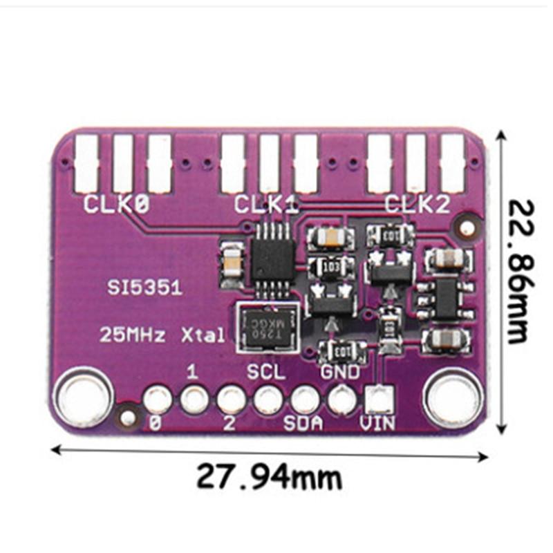 1 шт. Si5351A I2C 25 МГц генератор часов Breakout Board модуль 8 кГц до 160 МГц для Arduino