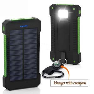 Image 5 - 8000mAh 태양 전원 은행 방수 태양 열 충전기 듀얼 USB 외부 충전기 Powerbank 샤오미 huawei 아이폰 7 8 삼성