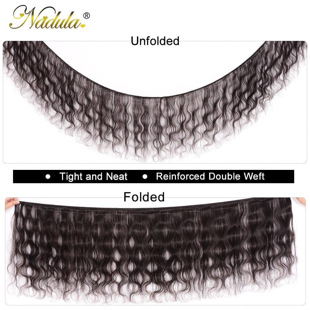 NADULA HAIR 3/4pcs/Lot  Body Wave Hair Bundles 100% Human s  Hair Natural Color Can be Dyed Hair s 2