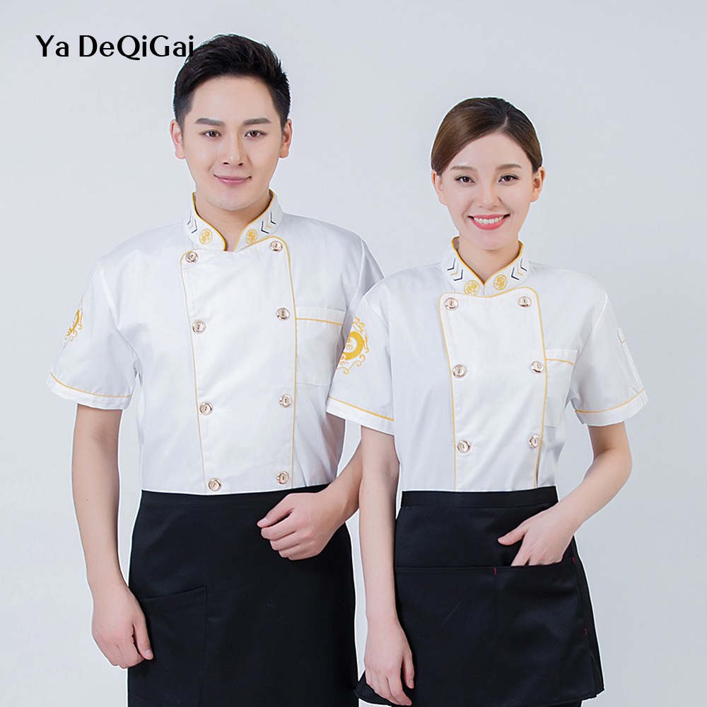 Chef Jackets Chef Uniform Breakfast Cafe Workbench Casual Shirt Baked Goods Bakery Waiter Western Restaurant Breathable New