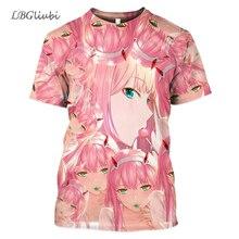 LBG NEW 3D printing Sweetheart FranXX anime T-shirt sweetheart casual Harajuku men and women short sleeves