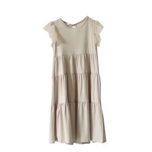 Image 3 - New 2020 Flying Sleeve Kids Summer Dress for Girls Dress Toddler Midi Dress Mesh Patchwork Baby Princess Dress Cotton Lace,#3933