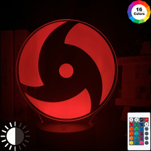 Kids Gift Night Light with USB Romote Naruto  Lamp Anime Mangekyo Sharingan Led NightLight Room Boys Child Christmas Present