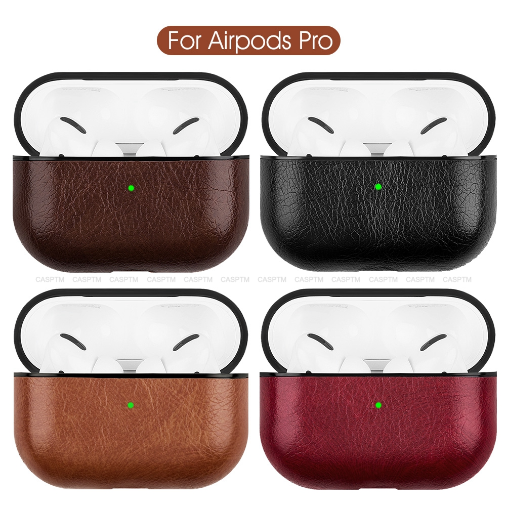 Wireless Bluetooth Earphone Case For Apple AirPods Pro PU Leather Skin Bag Case For Airpods 3 2019 Cover Charging Box Cases New