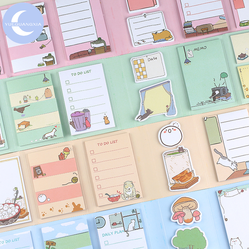 YueGuangXia 7 Styles Animal Daily Weekly To Do List Folded Memo Pads Stationery Self-Adhesive Pepalaria Office Supply 260pcs/lot