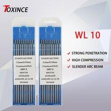 Elektroda wolframowa WL10 10 sztuk czarna końcówka profesjonalna końcówka kompozytowa igła wolframowa TIG elektroda wolframowa WL10