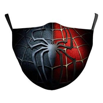 Spider Man Superman Batman Face Mask Cosplay Clothing Props Adult Men Women Halloween Breathable Masks halloween cosplay steampunk plague doctor mask bird beak props gothic masks