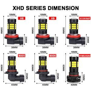 Image 5 - H11 LED Đèn Sương Mù Màu Vàng Trắng 9006/HB4 9005/HB3 Xe Ô Tô Bóng Đèn Đèn H8 H9 Sương Mù Tự Động 12V 36W 6000K 3000K HLXG