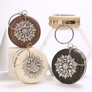 Luxy Moon Round Crystal Clutch