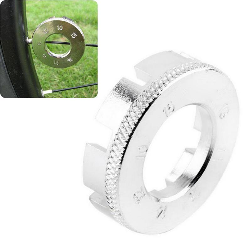 Stainless Steel Bicycle Spoke Nipple Wrench 8 Way Groove Bike Key Wheel Rim Adjuster Spanner Bicycle Repair Tool