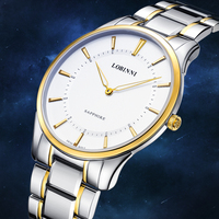 Switzerland wrist watch LOBINNI Men Watches Seagull Japan Citizen Quartz Clock Sapphire Blue Luxury relogio masculino 3008