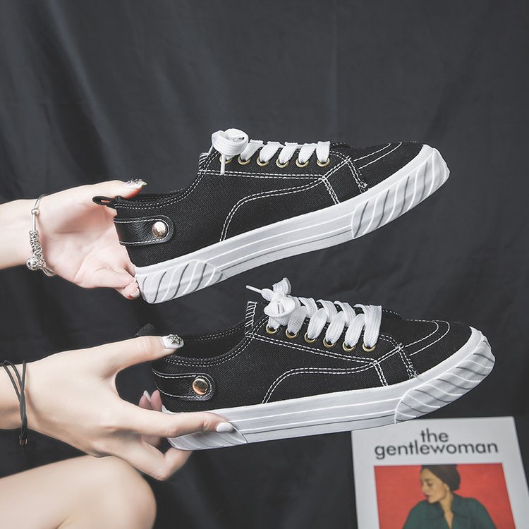 2019 Summer New Style White Shoes Sports Women's Casual Versatile Breathable Fashion Button Casual Women's Ulzzang Shoe