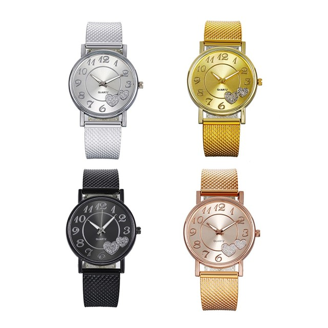 DUOBLA Luxury women's quartz, silicone mesh strap, wristwatches