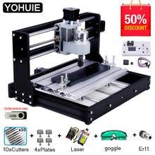 CNC 3018 PRO gravador de madeira, máquina roteadora à laser GRBL ER11, máquina de gravura DIY para PCB PVC mini