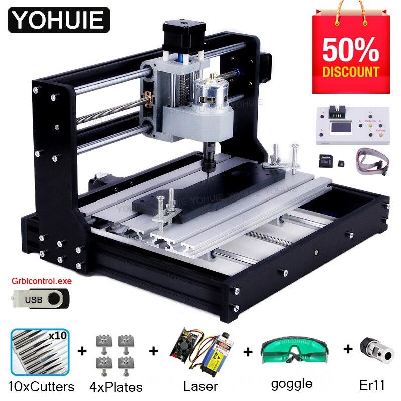 Graveuse laser CNC 3018 PRO, machine pour bricolage, outil de travail sur bois, PCB et PVC, GRBL ER11