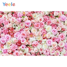 Yeele Wedding Party Photocall 3D Flowers Wall Decor Photography Backdrops Personalized Photographic Backgrounds For Photo Studio