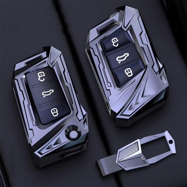 Aviation zinc alloy Car Key Case For VW Volkswagen Polo Golf 4 5 6 7 T5 Passat B6 B5 Skoda Octavia A5 A7 Seat Leon Ibiza Ateca