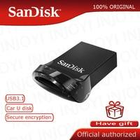 Sandisk 펜 드라이브 32gb 미니 USB 플래시 드라이브 128GB 64GB 16GB 최대 130 메터/초 cle usb 3.0 Pendrive USB 스틱 SDCZ430 USB 키