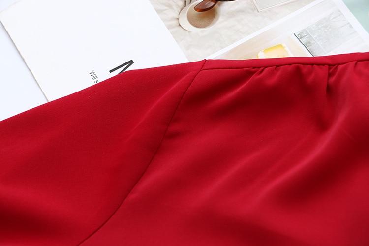 Short Sleeve Shirt Women Blouse Plus Size XXXL 4XL Casual V-neck Summer Blouse Black Red KKFY4433 Women Women's Blouses Women's Clothings cb5feb1b7314637725a2e7: black|Red