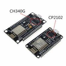 Módulo inalámbrico CH340 CP2102 NodeMcu V3 V2 Lua WIFI de Internet de las cosas, placa ESP8266 ESP-12E con antena de pcb