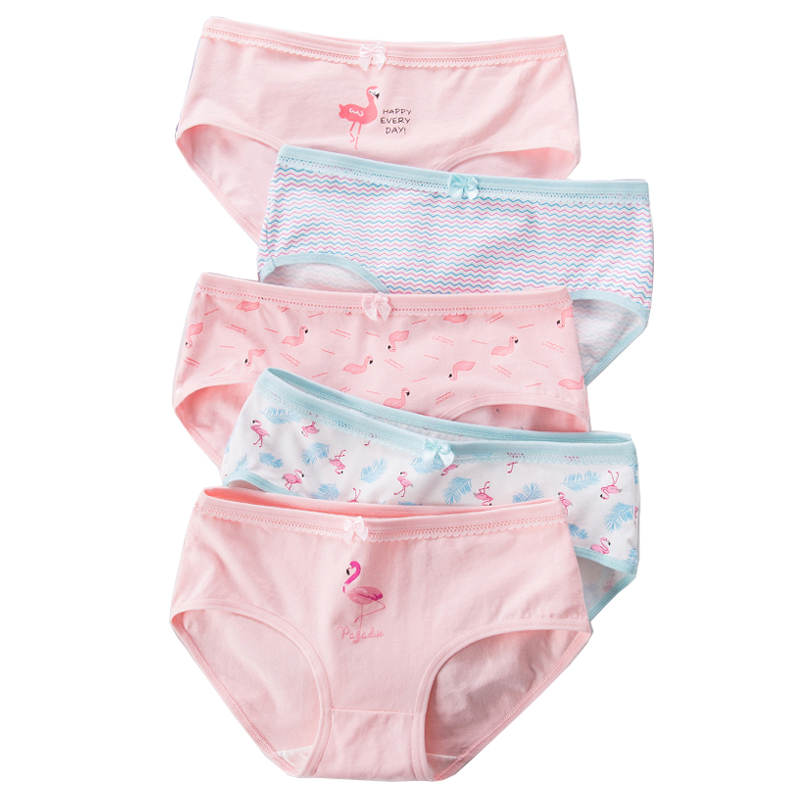 LANGSHA 5Pcs/lot Cotton <font><b>Women</b></font> <font><b>Panties</b></font> <font><b>Breathable</b></font> Briefs Girls Underwear Lovely Bow <font><b>Sexy</b></font> Ladies Underpants Female Lingerie M-2XL image