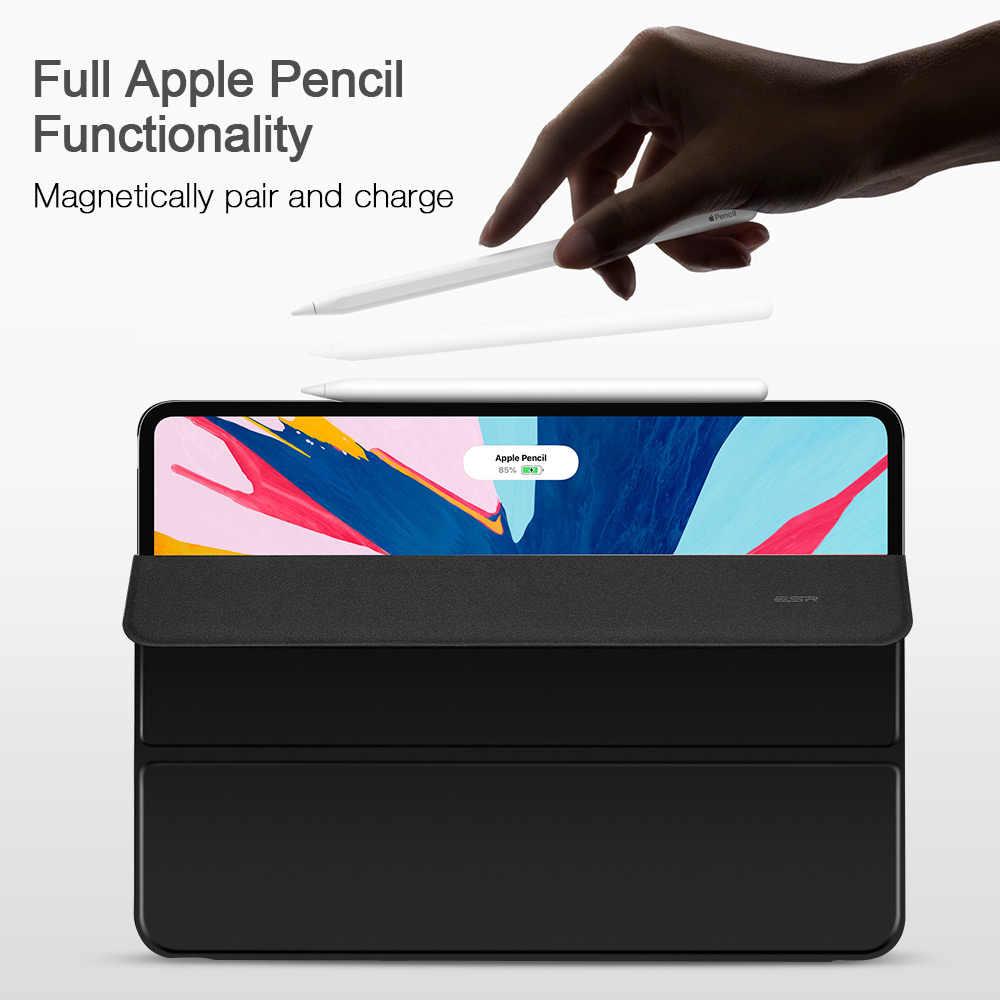 ESR Caso Astuto Magnetico per iPad Pro 11 2018 Della Copertura A Tre Ante Del Basamento del Magnete di Caso Attacco Magnetico Gommato Della Copertura per iPad pro11
