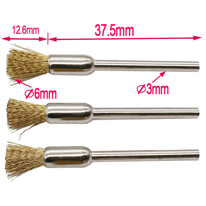 Image 4 - 9pcs/lot Brass Brush Wire Wheel Brushes Die Grinder Rotary Electric Tool For Engraver-in Brush from Tools