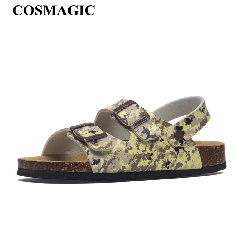 Fashion Cork Sandals New Women Casual Summer Beach Buckle Strap Sandals Shoe Flat with,Brown,8
