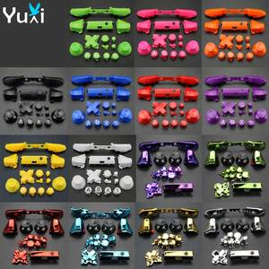 Image 1 - YuXi For Xbox One S Replacement Full Chrome Buttons Kit ABXY Trigger analog stick Parts for Xbox One Slim