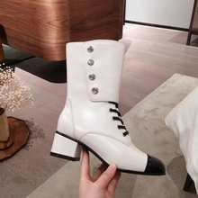 Star*Autumn and winter Frenulum Long boots,Stylish zip-up Martin boot,Women shoes(China)