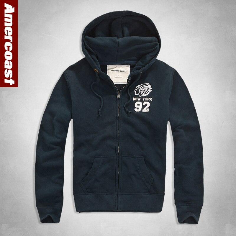 Men's Hoodies Autumn Jacket Tracksuit Outwear Hooded Coat Male Long Sleeve Sweatshirt Casual Slim Sportswear