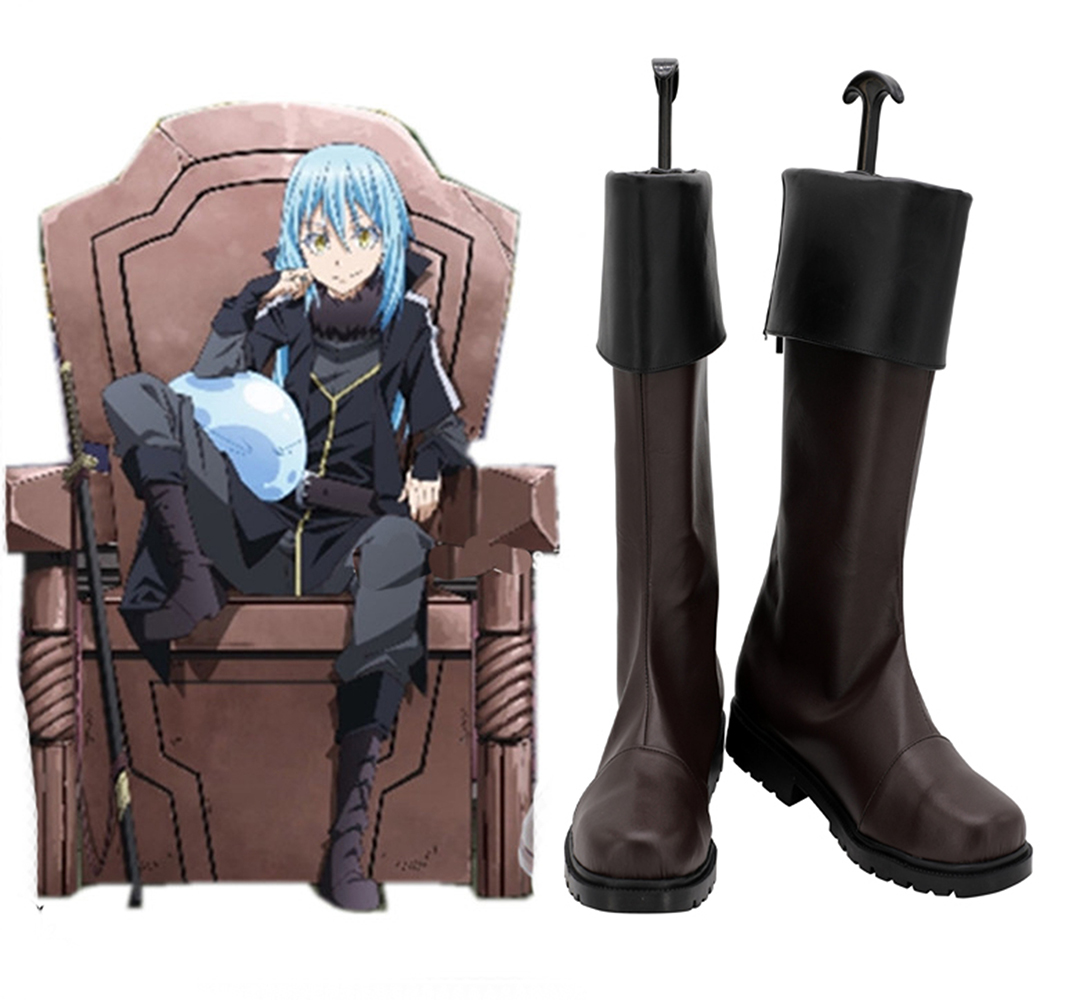That Time I Got Reincarnated as a Slime Rimuru Tempest Great Demon Lord Brown Cosplay Boots Customized Shoes